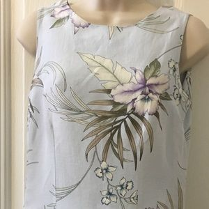 TOMMY BAHAMA Silk & Linen Tropical Print Dress 4